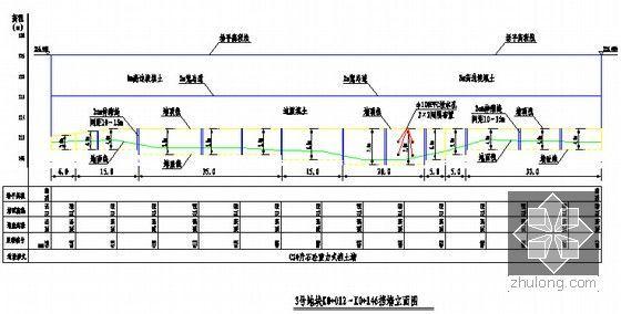 [重庆]某地块场平工程招标文件(含图纸)-挡墙立面图