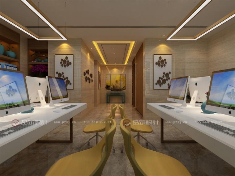 沈阳私人办公会所设计效果图震撼来袭-点击查看大图