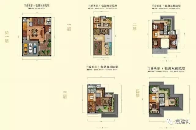 万科罕见的270㎡5房6卫双拼户型,庭院高达228㎡_13