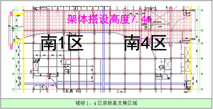 [广州]绿地中心超高层项目裙楼高支模方案交底