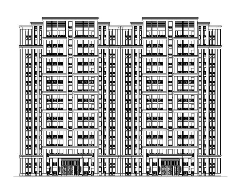 [浙江]天水居住区建筑施工图设计(CAD)