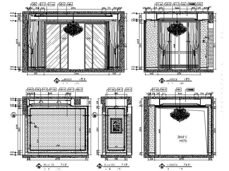 [长沙]欧式低调奢华四居室设计施工图(含效果图)_3