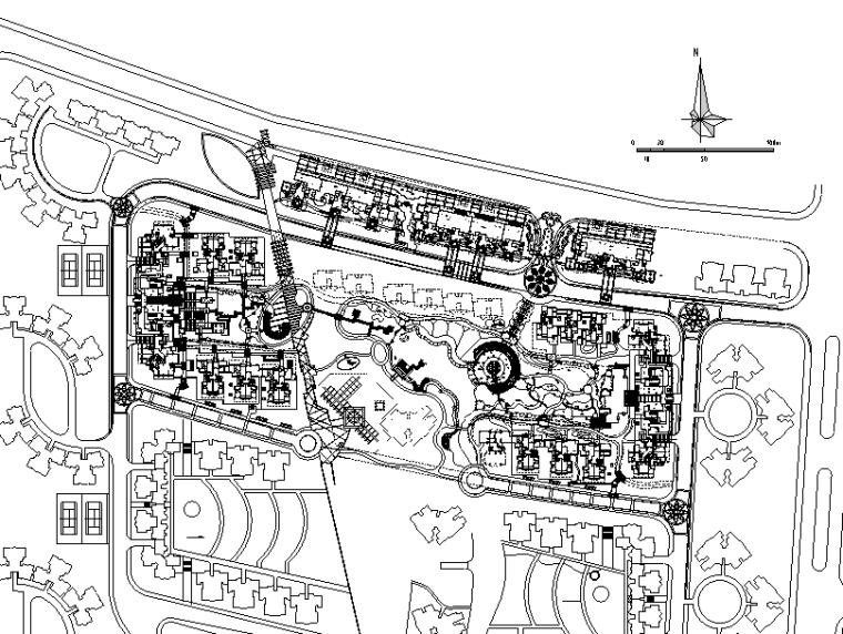 [广东]岭南新世纪家园居住区景观设计全套施工图(包含CAD+192个)