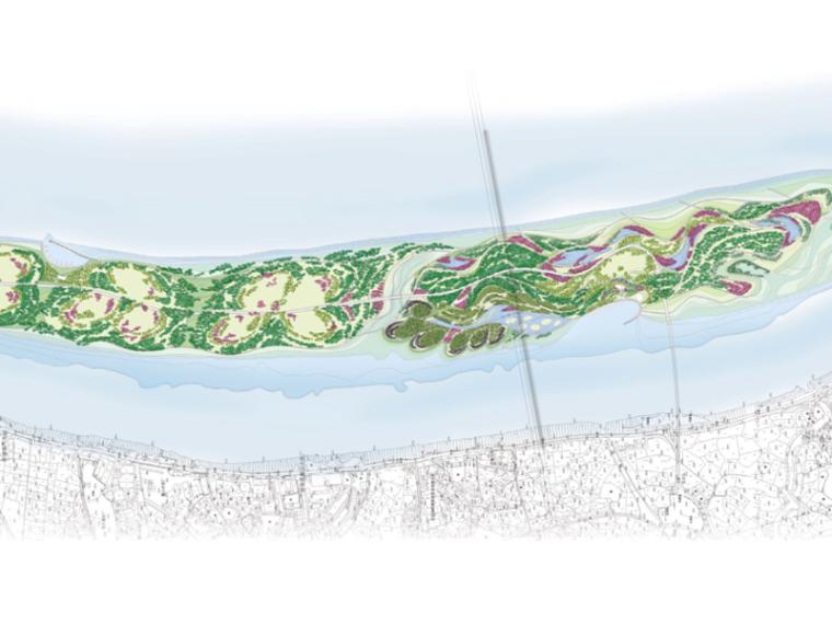 [湖南]长沙坪塘巴溪洲景观设计(滨水,自然)