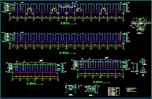 单层双跨实腹式门式刚架结构车间厂房结构施工图_2