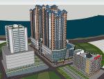 某大型广场建筑设计模型