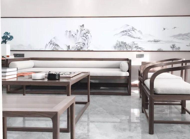 新中式徽派元素山水画为轴线的家装设计_10