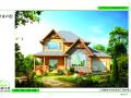 新出炉的各种风格类型木结构木屋别墅平面效果图