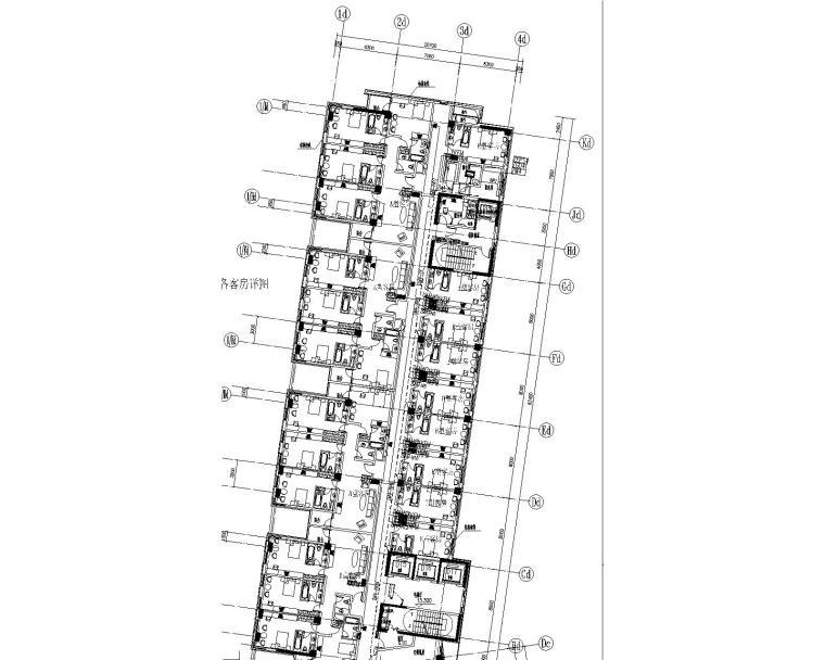 [上海]某学院楼及教学楼电气施工图纸(含动力、照明及变电所图纸)-插座平面图