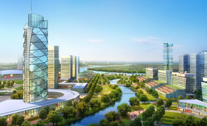 [浙江]综合型滨江生态水岸低碳创新产业城市规划设计方案(2017最新)