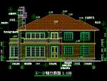 两层现代风格建筑施工图