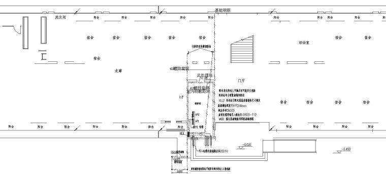某高校六层宿舍楼电气图