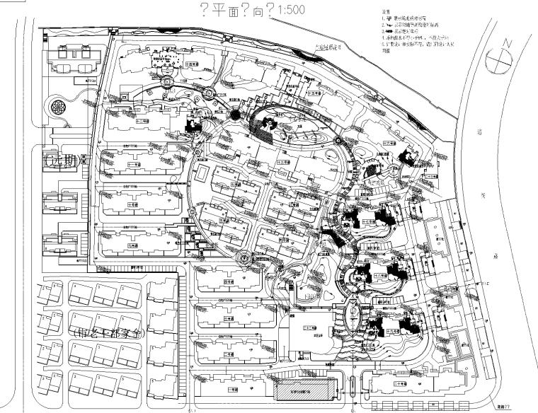 [浙江]无锡新世纪花园居住区景观CAD施工图(同济大学)