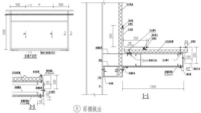 钢结构门、窗安装节点详图_8