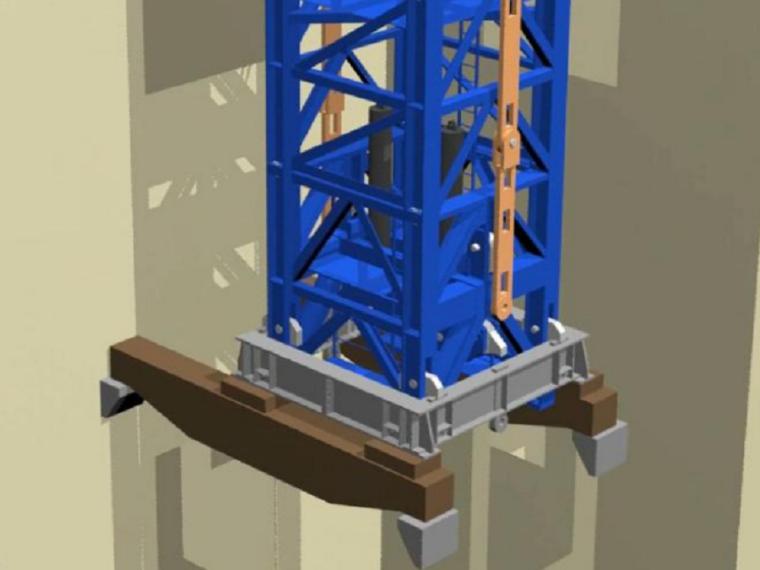 [广州]钢筋混凝土核心筒结构高层建筑项目塔机安装爬升方案(105页)