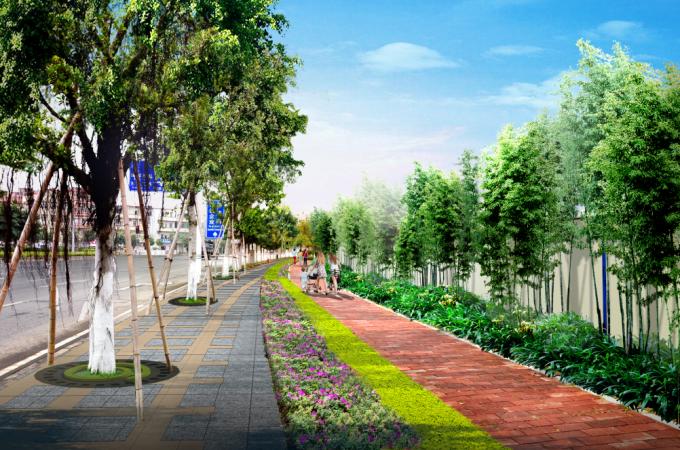 """[广东]""""源代码""""科技创意生态道路景观改造设计方案_7"""