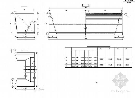 双孔拱桥桥台一般构造节点详图设计
