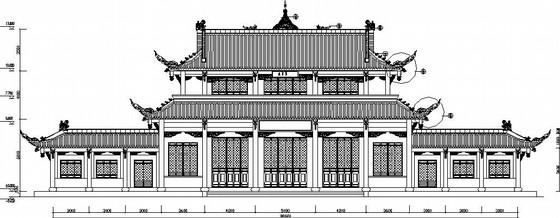 景区古建筑药师殿结构施工图