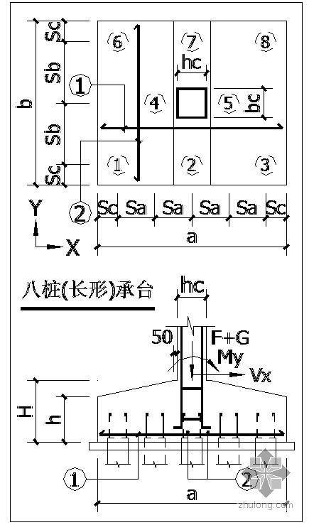 各种承台配筋桩基础节点构造详图