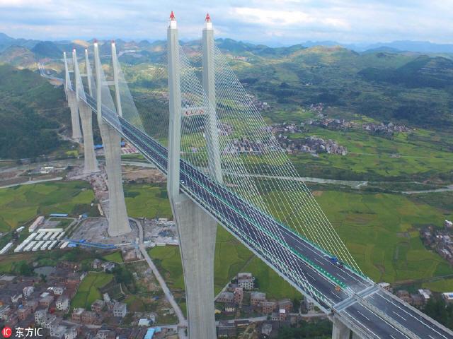 """世界第一大跨径高墩多塔桥""""赤石特大桥""""即将通车"""
