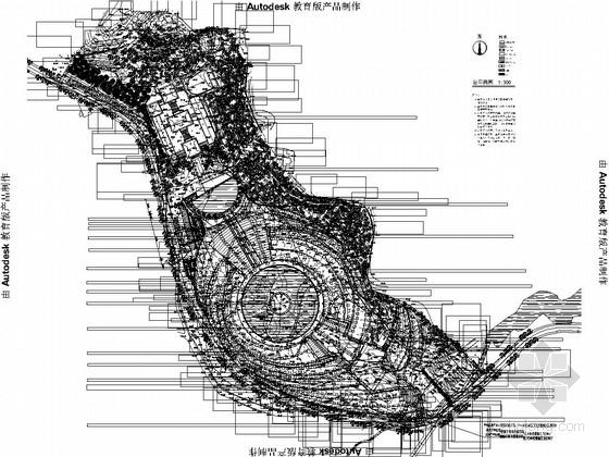 [长沙]湘军文化园景观工程施工图
