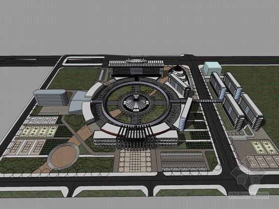 校园规划概念设计SketchUp模型下载