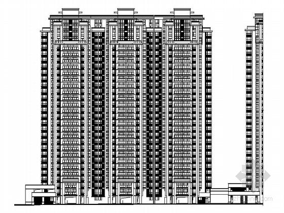 [厦门]高层现代风格住宅区规划及单体建筑设计施工图