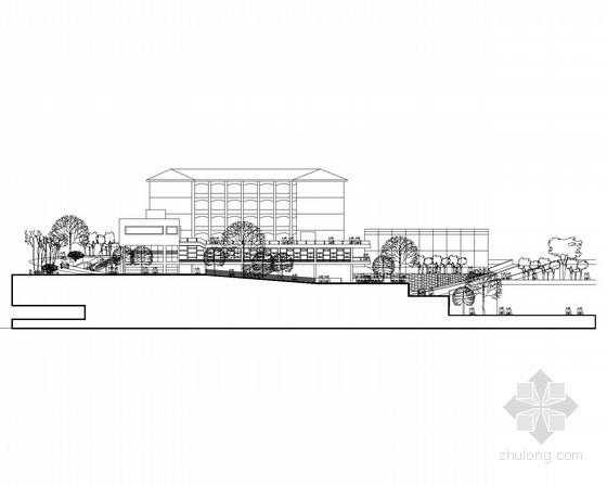 [课程设计]某二层大学生学术研习中心建筑方案图