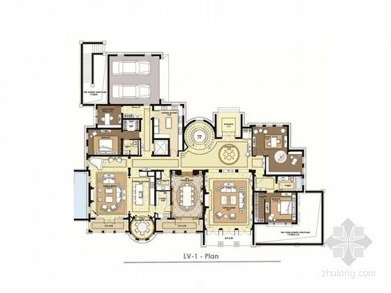 [北京]美式双层别墅室内软装设计方案