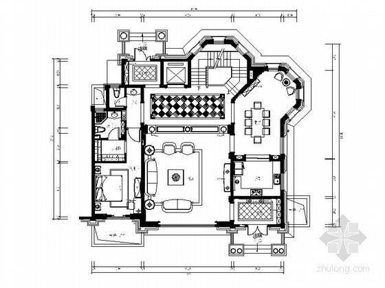 [常州]古典欧式三层别墅样板房装修图(含效果)