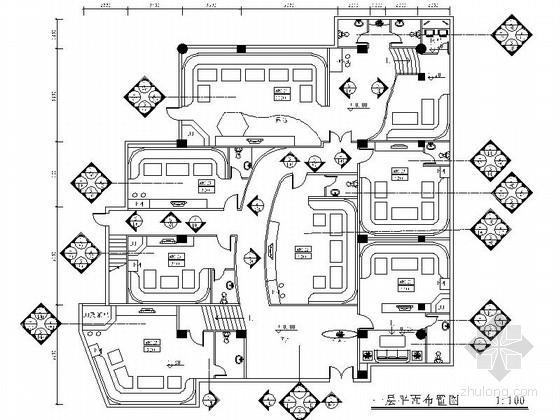 [西安]大酒店KTV室内装饰设计CAD施工图