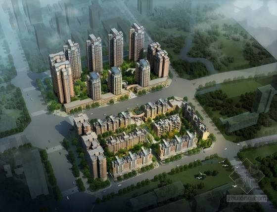 [成都]现代田园式高品质高层住宅及洋房建筑设计方案文本(含59张CAD)