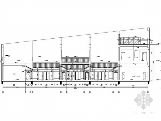 大厦顶层蓬莱会所钢结构施工图(含建筑施工图)