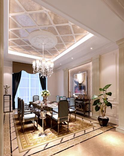 [吉林]经典豪华法式样板房室内设计施工图(含设计方案)_12