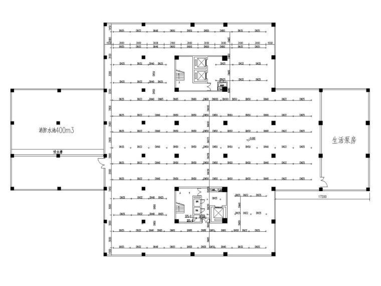 图书馆给排水消防施工图设计(含计算说明书)