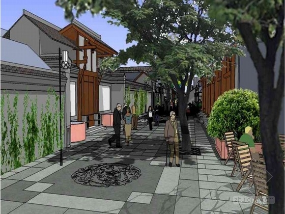 某宽窄小巷子景观设计方案
