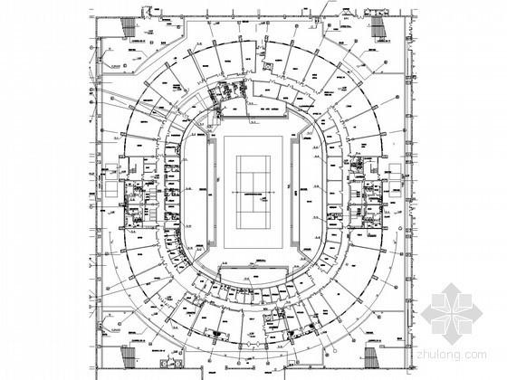 [黑龙江]体育中心网球场给排水消防施工图