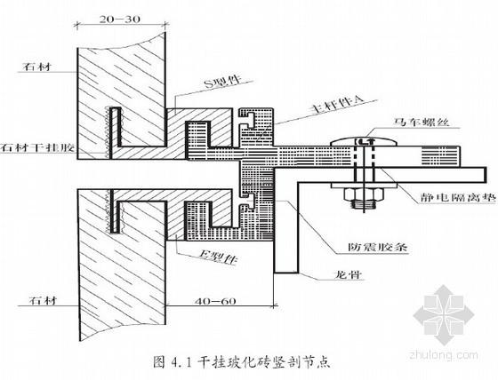 室内装修工程干挂玻化砖内墙施工工法