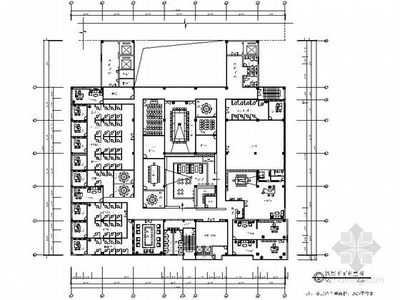[厦门]某现代风办公室室内装修施工图(含效果)