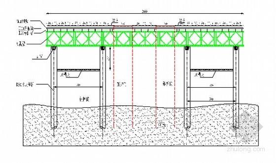 [广西]型钢和贝雷梁组拼水上钻孔平台专项施工方案及计算书34页(钢管桩)