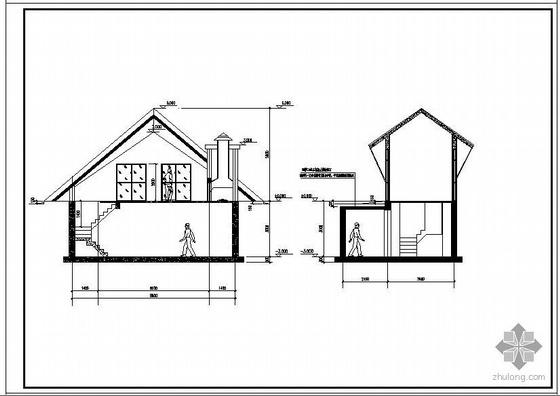 某别墅区景观房-便利店结构设计图