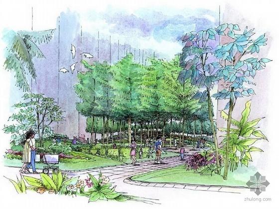 东莞某20万平方米居住小区园林方案