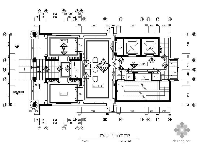 重庆竣工图框尺寸_[重庆]标准层公共区域室内装修竣工图-公共空间装修-筑龙室内 ...