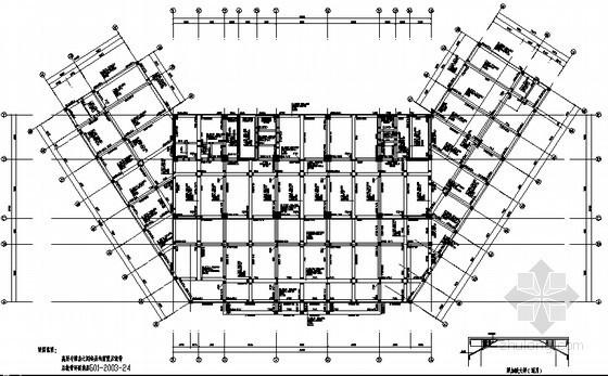 [江苏]某19层框剪综合办公楼结构设计图