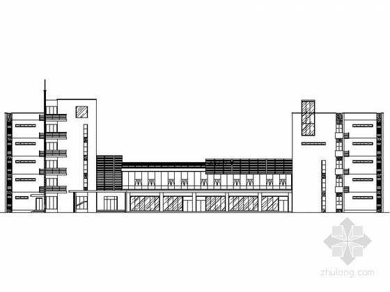[武汉]某五层职工宿舍建筑扩初图