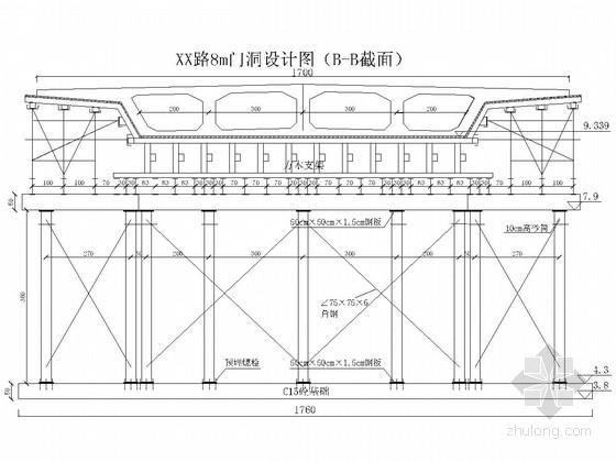 跨线桥下通行门洞设计图(4米、8米规格)