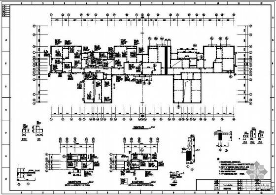 武汉某框剪多层住宅结构设计图