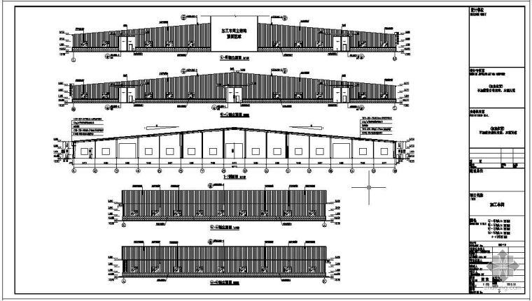 辽宁某轻钢厂房结构设计图