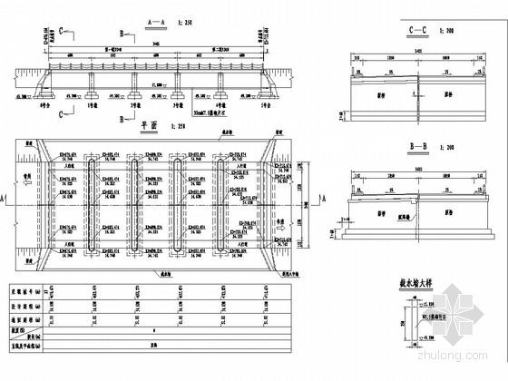 公路漫水桥施工图设计(五孔)