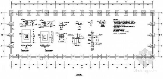 某轻钢结构厂房柱下独立基础节点详图